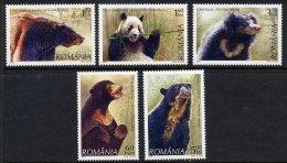 ROMANIA 2008 Bears Set Of 5 MNH / **.  Michel 6284-88 - 1948-.... Republics