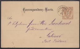 Moschganzen (Moškanjci) , 2 Kr., Postcard, Mailed In 1887, Creased Verticaly - 1850-1918 Empire