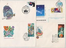 SPACE 4 Cover Used USSR RUSSIA Rocket Sputnik USA Soyuz Apollo Baikonur England Zvezdny Gorodok - Lettres & Documents