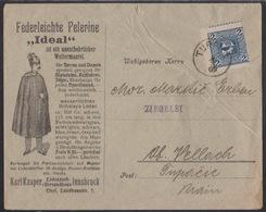 Tupaliče, Arrival Cancellation On Ilustarted Comercial Envelope From Innsbruck, 1909, Slightly Creased - 1850-1918 Empire