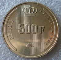 Belgie, 500 Frank, 1990 (VL), Zilver .833, - 1951-1993: Baudouin I