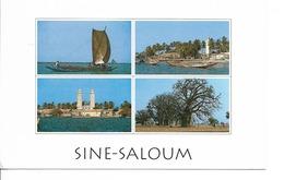 SENEGAL Fleuve SINE SALOUM Niodor, Dionewar, N'Dangane / CPM Multivues Voyagée 1995 / T. ST EXUPERY YT 1309 +++++ - Sénégal