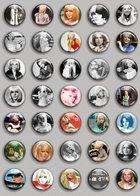 France Gall Music Fan ART BADGE BUTTON PIN SET (1inch/25mm Diameter) 35 DIFF F - Music