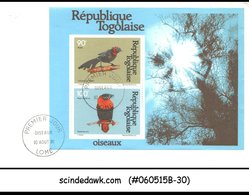 TOGO - 1981 BIRDS - MIN. SHEET - FDC - Togo (1960-...)