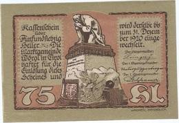 Austria 75 Heller 31-1-1921, St. Johann (Tirol) 1252d UNC - Austria