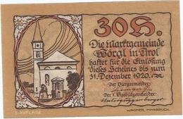 Austria 30 Heller 31-12-1920, St. Johann (Tirol) 1252f UNC - Austria