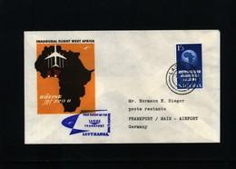 Nigeria 1962 Lufthansa  First Flight  Lagos - Frankfurt - Nigeria (1961-...)