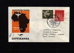 Nigeria 1962 Lufthansa  First Flight  Frankfurt - Lagos - Nigeria (1961-...)