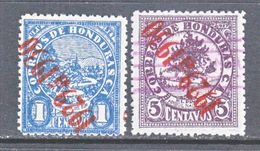 HONDURAS   259, 266   *   (o)   INVERTED  OVPT. - Honduras