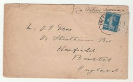 FRANCE Stamps COVER ON ACTIVE SERVICE To Bristol GB Forces Military - France