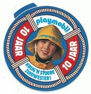 Sticker - 10 Jaar Playmobil - Krijg Een Stoere Zuidwester! - Autocollants