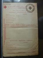 Document Demandeur , CACHET INDOCHINE CROIX ROUGE FRANCAISE - Comité Internationale GENEVE (Suisse ) DOCUMENT VIERGE - Documents Historiques