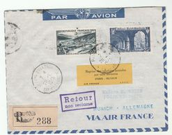 1946 Air France Germany FIRST POST WWII AIRMAIL FLIGHT COVER Reprise Des Relations Postales Par Voie Aerienne Aviation - France