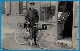 Format CPA - Carte Commerciale AVIS De PASSAGE De M. Arthur PROUST ... * Métier Représentant De Commerce * Vélo Cyclisme - Commercio