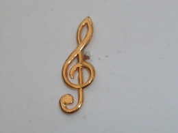 Pin's CLEF DE SOL DOREE - Music