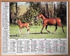 Calendrier La Poste - Almanach : 75-92-93-94 Paris Et Banlieue 1987. Plan Banlieue Paris,métro,autobus - Grand Format : 1981-90