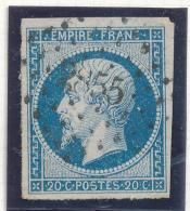 N°14 NUANCE ET OBLITERATION ET (OU VARIETE) - 1853-1860 Napoleon III