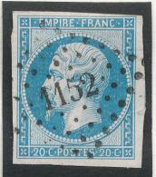 N°14 NUANCE ET OBLITERATION ET (OU VARIETE) - 1853-1860 Napoléon III