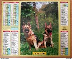 Calendrier La Poste - Almanach : 95. Val D'Oise 1995. Plan Paris,RER,métro,banlieue - Big : 1991-00