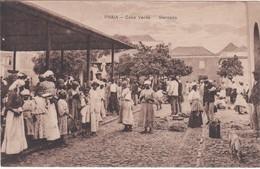 CABO VERDE - CAPE VERDE - AFRICA - POSTCARD - PRAIA - MERCADO - Cap Vert