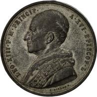 Vatican, Médaille, Le Pape Léon XIII, 1843, Giorgi, TTB, Tin - Other