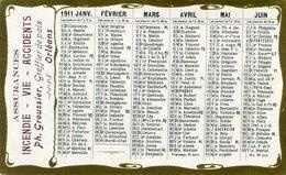 CALENDRIER 1911(ORLEANS) - Calendars