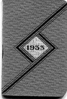 CALENDRIER 1933 - Petit Format : 1921-40
