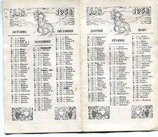 CALENDRIER 1958 - Calendars