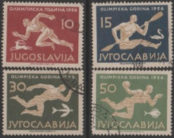 SUMMER OLYMPIC 1956 .YUGOSLAVIA USED INCOMPLETE SET - Sommer 1956: Melbourne