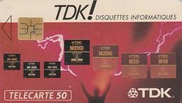 TELECARTE 50....TDK !  DISQUETTES INFORMATIQUES...11 000 EX..... - France