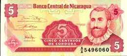 NICARAGUA  5 CENTAVOS DE CORDOBAS  De 1991nd  Pick 168  UNC/NEUF - Nicaragua