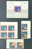 PARAGUAY - MNH/** - 1961  - ALAN B. SHEPARD -  Mi BLOCK 12 979-985 - Lot 17224 - Paraguay
