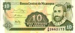 NICARAGUA  10 CENTAVOS DE CORDOBAS  De 1991nd  Pick 169  UNC/NEUF - Nicaragua