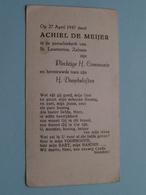 H. Communie ( Achiel DE MEIJER ) I/d Kerk St. Laurentius Te ZELZATE Op 27 April 1947 ( Details - Zie Foto ) ! - Communion