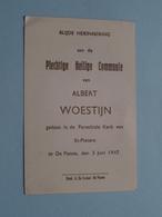 H. Communie ( Albert WOESTIJN ) I/d Kerk St. Pieters Te DE PANNE Op 5 Juni 1947 ( Details - Zie Foto ) ! - Communion