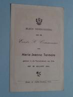 H. Communie ( Marie-Jeanne TERMOTE ) I/d Kerk Van GITS Op 22 Maart 1945 ( Details - Zie Foto ) ! - Communion
