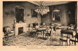 36. CPA. MEZIERES EN BRENNE.  Maison De Retraite De L' A F C M.  Chateau Beauregard, Le Salon. - Autres Communes