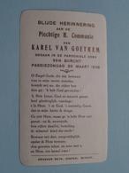 H. Communie ( Karel VAN GOETHEM ) I/d Kerk Van BURCHT Op 26 Maart 1939 ( Details - Zie Foto ) ! - Communion