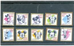 2017 JAPON Y & T N° Xxxx à Xxxx ( O ) Mickey Et Minnie - 1989-... Emperador Akihito (Era Heisei)