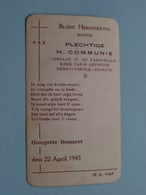H. Communie ( Georgette DEMARET ) I/d Kerk Te DEBBAUTSHOEK - ZELZATE Op 22 April 1945 ( Details - Zie Foto ) ! - Communion