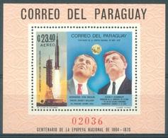 PARAGUAY - MNH/** - 1969  - APOLLO VON BRAUN KENNEDY -  Mi BLOCK 124 - Lot 17227 - Paraguay