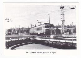 CPM VOIR DOS 89 Laroche Migennes N°89.7 Locomotives SNCF Diesel Et Electriques Au Dépôt Plaque Tournante - Migennes