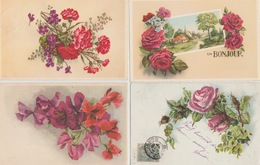 18 / 6 / 381   -  LOT  DE  12  CP  FLEURS  DIVERSES - Postcards