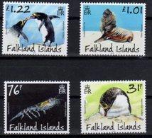 FALKLAND ISLANDS ,2018, MNH, PREDATORS AND PREY, PENGUINS, SEA LIONS, KRILL, 4v - Militaria