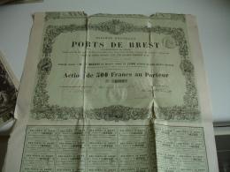 Action Ports De Brest  1864 - Aandelen