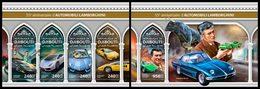 DJIBOUTI 2018 - Lamborghini Cars, M/S + S/S. Official Issue - Djibouti (1977-...)