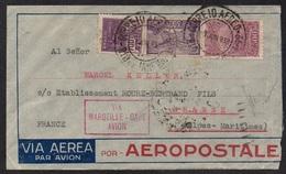 AEROPOSTALE - BRESIL - BRASIL / 1933 LETTRE POUR LA FRANCE - GRASSE - VIA MARSEILLE (ref LE2368) - Brazil
