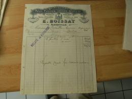 Albertville Boissat Fer Fonte Facture Illustree - 1900 – 1949