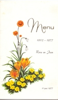 Menu - Jubilé Rosa & Jean 1977 - Gelmen - Menus