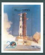 COMMONWEALTH OF DOMINICA  - MNH/** - 1989  - APOLLO XI -  Mi BLOCK 155 - Lot 17230 - Dominique (1978-...)